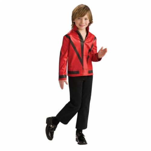Costumes For All Occasions Ru884242Lg Mj Red Thriller Jckt Child Lg Perspective: front