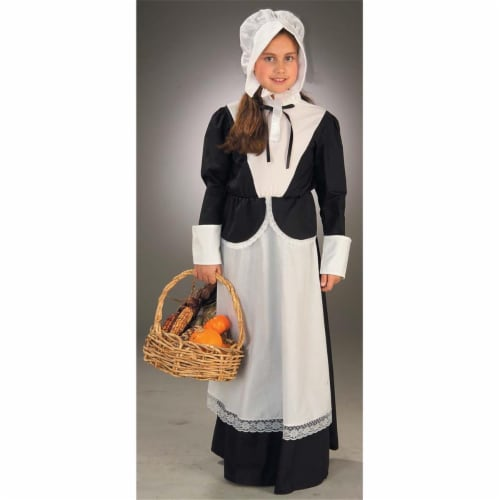 Costumes For All Occasions Fm59579Sm Pilgrim Girl Child Sm Perspective: front