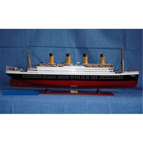 Old Modern Handicrafts C012 Titanic Painted L Model Boat Perspective: front