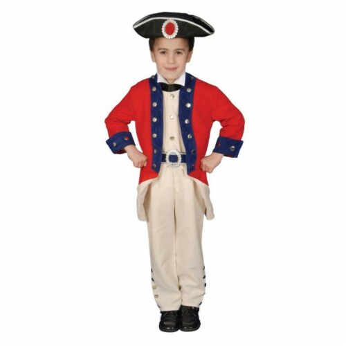 Costumes For All Occasions Up294Md Colonial Soldier Child 8 To 10 Perspective: front