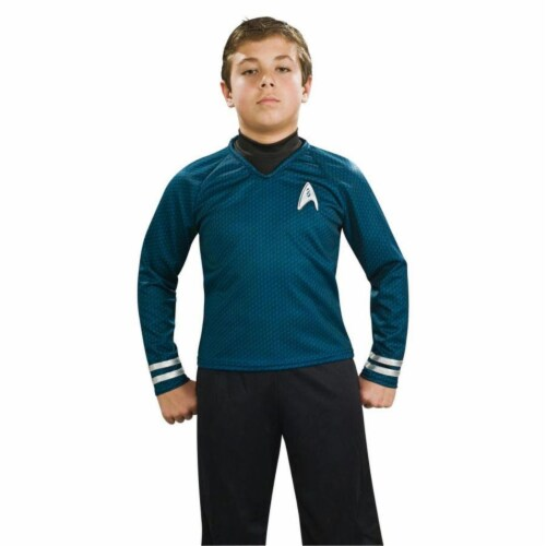 Costumes For All Occasions Ru883592Sm Star Trek Chld Dlx Blu Cost Sm Perspective: front