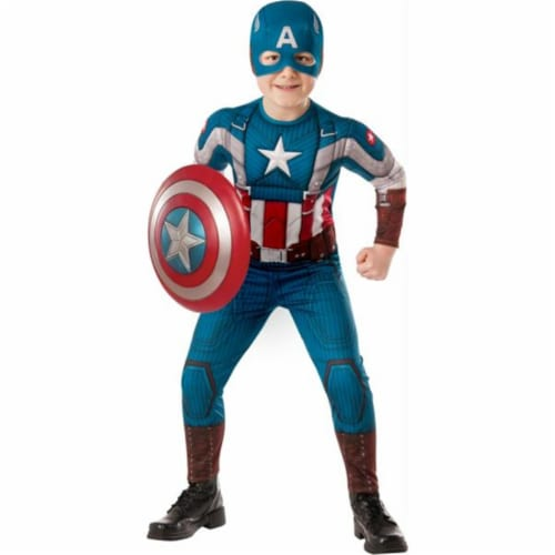 MorrisCostumes RU620046LG Captain America Child, Large Perspective: front
