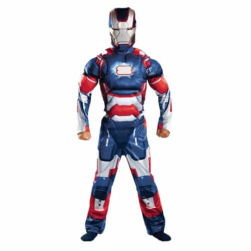 MorrisCostumes DG55658G Iron Patriot Classc Muscle 10-12 Perspective: front