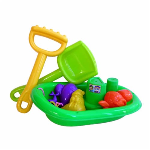 Sunshine Trading BP-91 Boat Sand Toy - 6 Piece Set Perspective: front