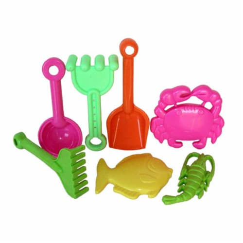 Sunshine Trading BT-23 Tool Sand Toy - 7 Piece Set Perspective: front