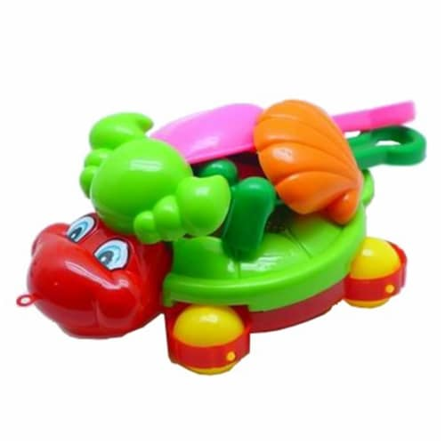Sunshine Trading BT-399 Wheeled Turtle Sand Toy - 6 Piece Set Perspective: front