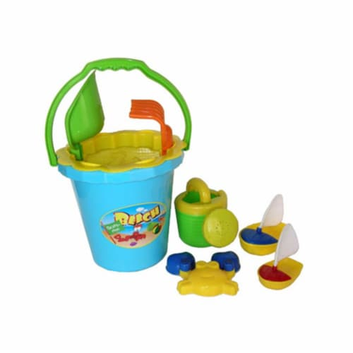 Sunshine Trading BT-42 Bucket Sand Toy - 8 Piece Set Perspective: front