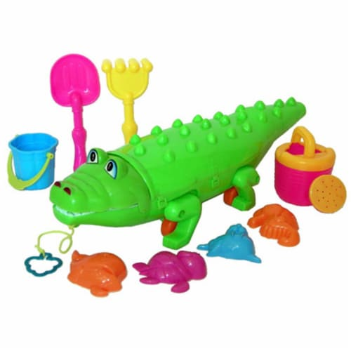 Sunshine Trading KZ-75 Alligator Sand Toy - 10 Piece Set Perspective: front