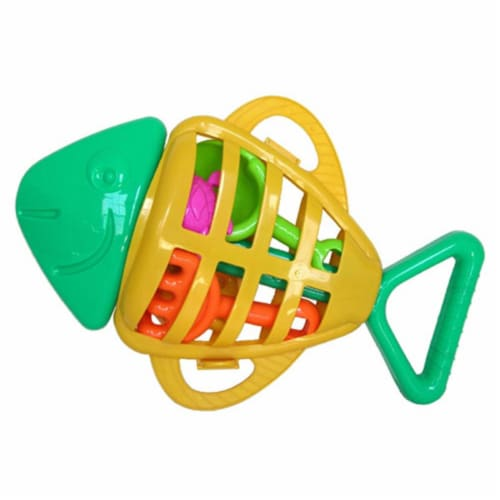 Sunshine Trading SB-38 Fish Sand Toy - 7 Piece Set Perspective: front