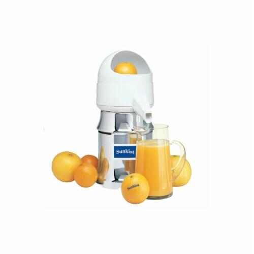 Sunkist J-1 Type 8 AC 115 Volt 60 Watt Commercial Juicer with Oscillating Strainer Perspective: front