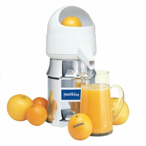 Sunkist J-4 Type 8 AC 230 Volt 60 Watt Commercial Juicer with Oscillating Strainer Perspective: front