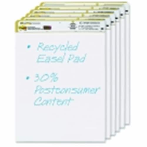 Sticky note 25 x 30 in. Self-Stick Easel Pad, Unruled, White Recycled, Pack - 6 Perspective: front