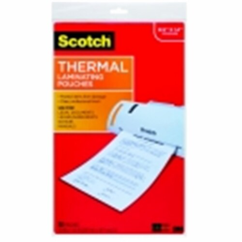 Scotch Self-Seal Single-Sided Laminating Sheet - Letter Size, Pack 50 Perspective: front