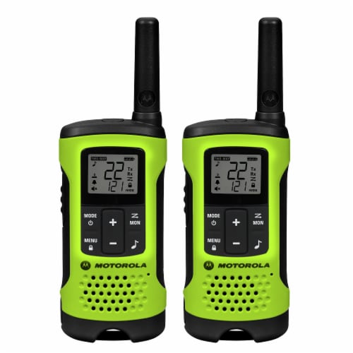 Motorola Talkabout T600 Two-Way Radios - Green/Black Perspective: front