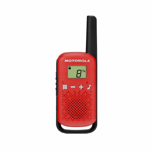 Motorola Solutions T110 Two-Way Radio - Red/Black Perspective: front