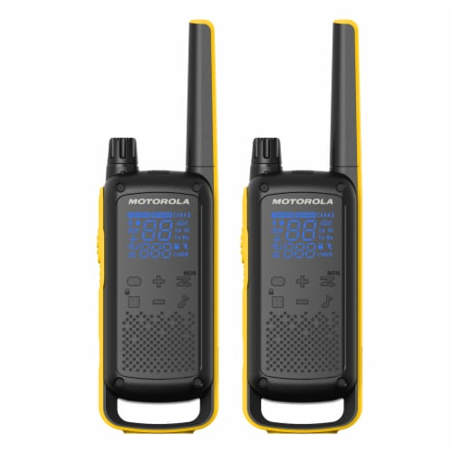 Motorola Talkabout T470 Two-Way Radios 2 Pack Perspective: front
