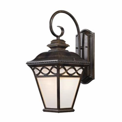 Mendham 1-Light Outdoor Sconce in Hazelnut Bronze Perspective: front