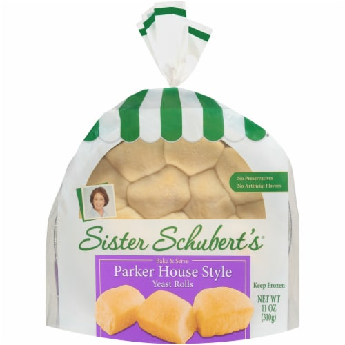 Sister Schubert's Bake & Serve Parker House Style Yeast Rolls Perspective: front
