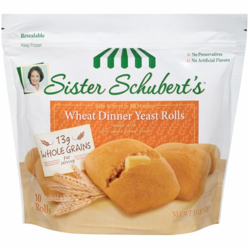 Sister Schubert's Wheat Dinner Yeast Rolls Perspective: front