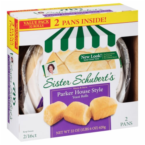 Sister Schbert's Parker House Style Yeast Rolls Perspective: front