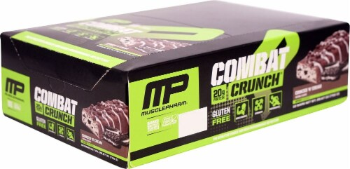 MusclePharm  Combat Crunch™ Bars   Cookies 'N Cream Perspective: front