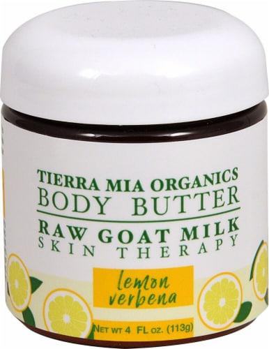 Tierra Mia Organics  Raw Goat Milk Body Butter Lemon Verbena Perspective: front
