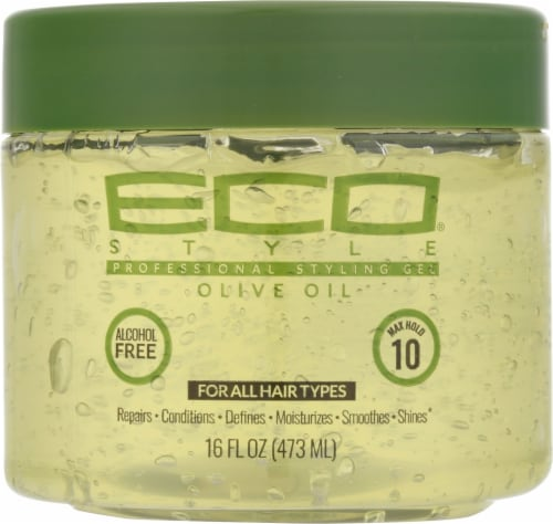 Ecos Olive Oil 10 Max Hold Styling Gel Perspective: front