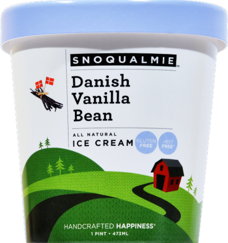 Snoqualmie Danish Vanilla Bean Ice Cream Perspective: front