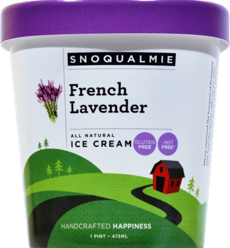 Snoqualmie French Lavender Ice Cream Perspective: front