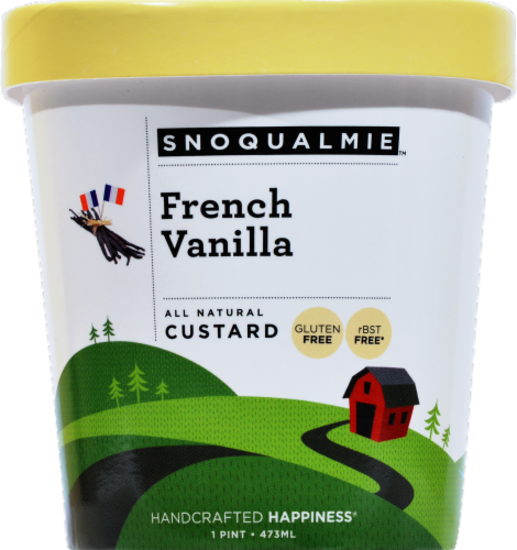 Snoqualmie French Vanilla Custard Perspective: front