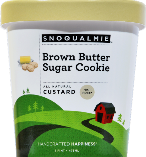 Snoqualmie Brown Butter Sugar Cookie Ice Cream Perspective: front