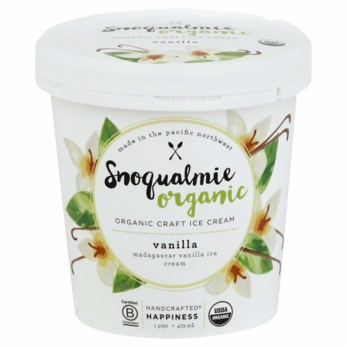Snoqualmie Vanilla Organic Ice Cream Perspective: front