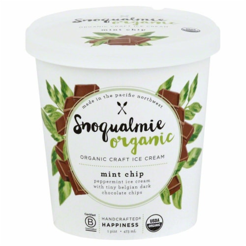 Snoqualmie Mint Organic Ice Cream Perspective: front