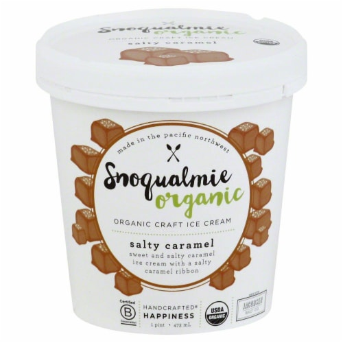 Snoqualmie Salty Caramel Organic Ice Cream Perspective: front