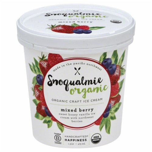 Snoqualmie Mixed Berry Organic Ice Cream Perspective: front