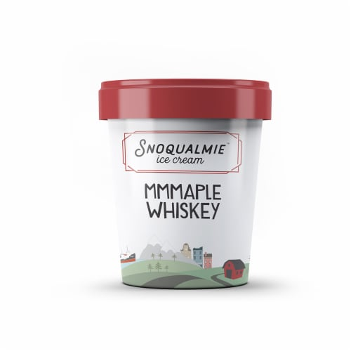 Snoqualmie Mmmaple Whiskey Ice Cream Perspective: front