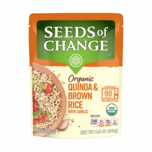 Seeds of Change Organic Quinoa & Brown Rice Perspective: front