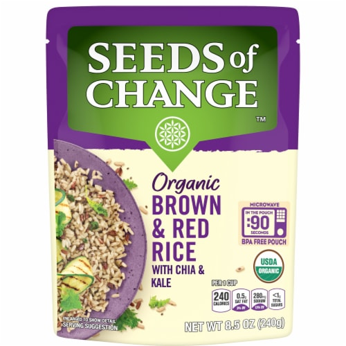 Seeds of Change Organic Brown & Red Rice with Chia & Kale Perspective: front