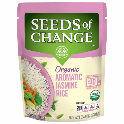 Seeds of Change Organic Aromatic Jasmine Rice Perspective: front