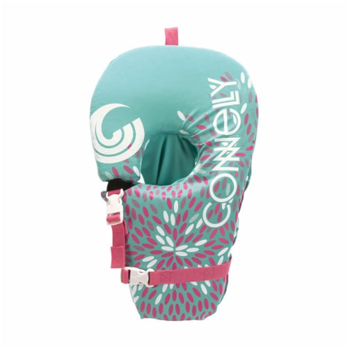 CWB Connelly Infant Baby Safe and Soft Nylon Water Pool Life Vest Jacket, Teal Perspective: front