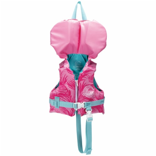 Connelly Infant Nylon Baby Water Boating Lake Pool Swim Life Vest Jacket, Pink Perspective: front