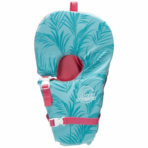 Connelly Baby Safe and Soft Adjustable Infant Nylon Water Life Jacket Vest, Blue Perspective: front