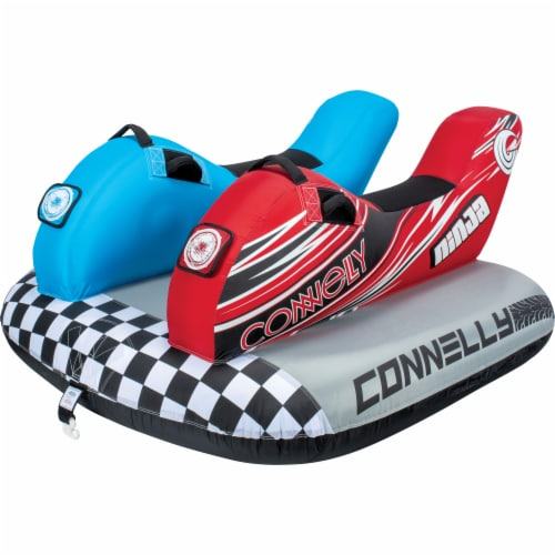 CWB Connelly Ninja 2 Person Saddle Seat Inflatable Boat Towable Water Inner Tube Perspective: front