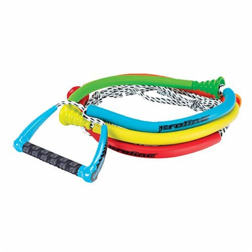Connelly Color Coordinated 30' Tug Surf Rope w/ Comfortable Grip Floating Handle Perspective: front