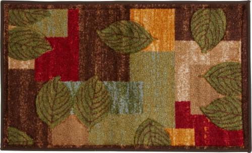 Oriental Weavers Hand-Carved Leaves Accent Rug Perspective: front