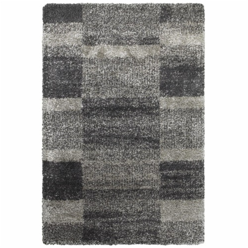 Oriental Weavers Henderson 531Z1 6x9  Rectangle - Grey/ Charcoal-Polypropylene Perspective: front