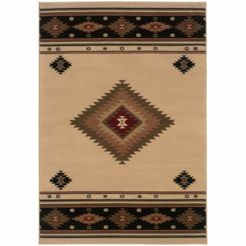 Oriental Weavers Tacoma Southwest Area Rug - Beige Perspective: front