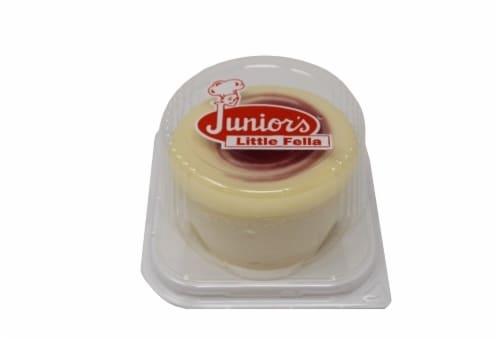 Junior's Little Fella Raspberry Swirl Cheesecake Perspective: front