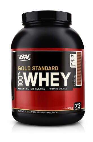 Optimum Nutrition  Gold Standard 100% Whey   Chocolate Malt Perspective: front