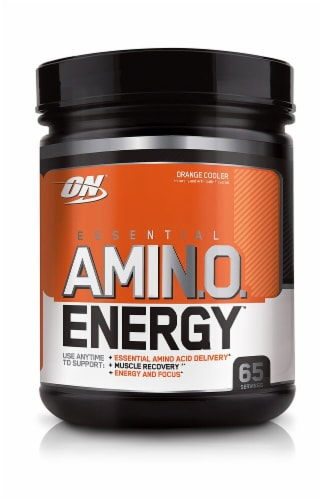 Optimum Nutrition  Essential AMIN.O Energy™   Orange Cooler Perspective: front